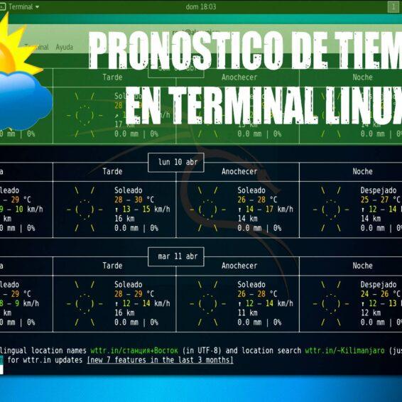 Como-saber-el-pronostico-de-tiempo-desde-la-terminal-de-Linux