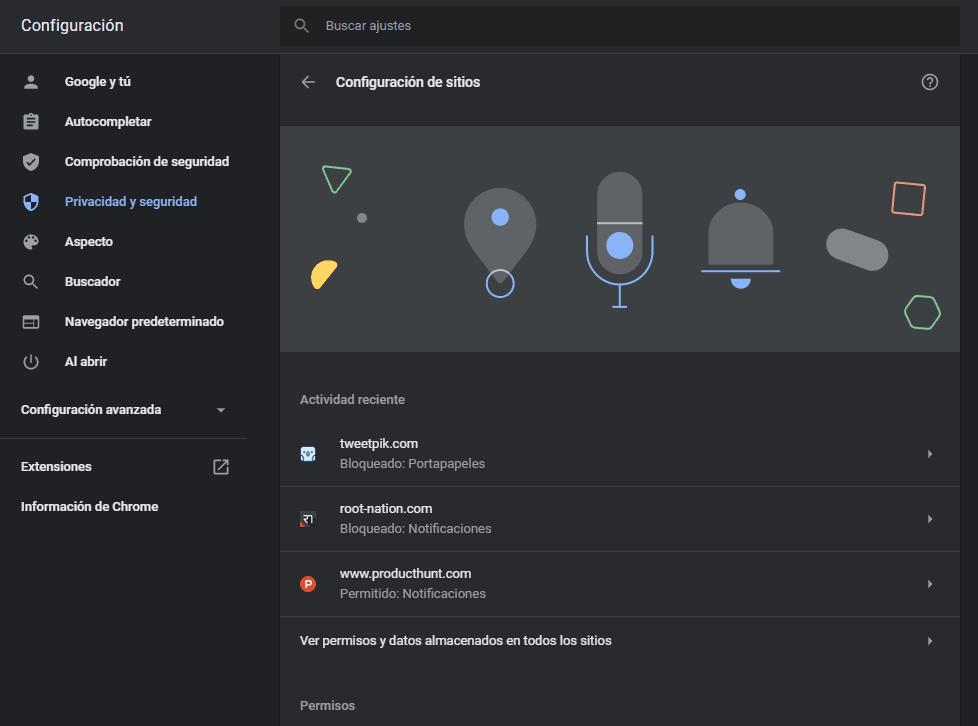 Configurar Micrófono y Cámara en Chrome