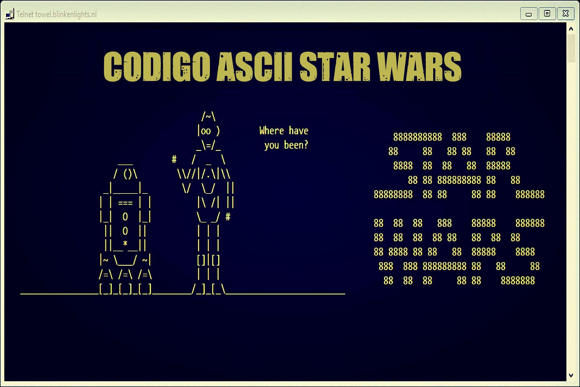 Star Wars ASCII Windows, Linux Mac