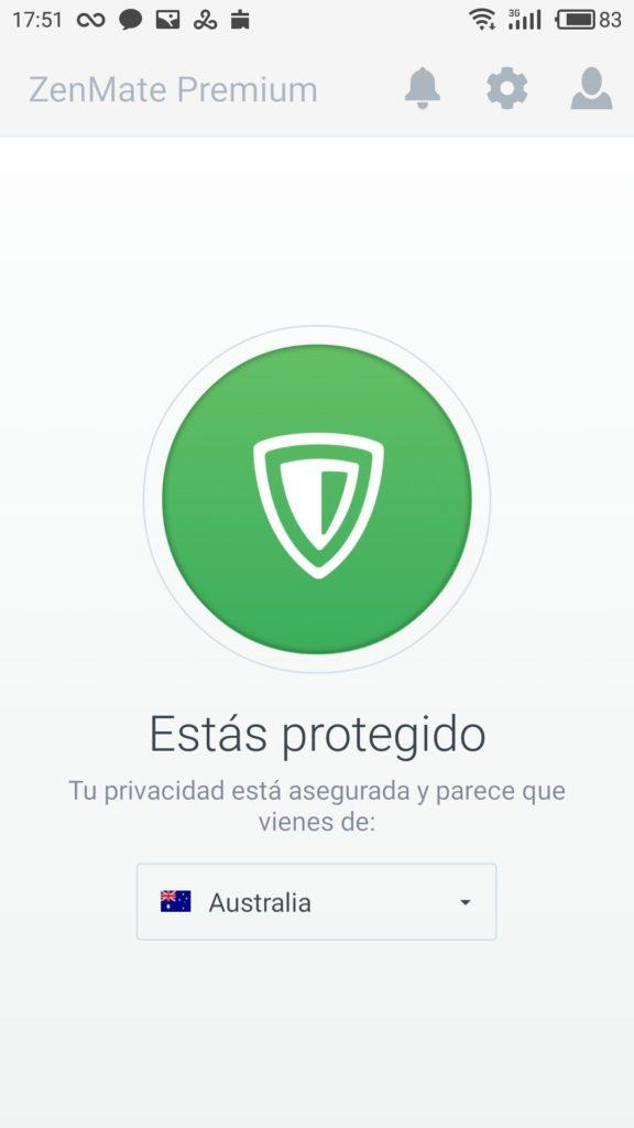 App Android ZenMate VPN