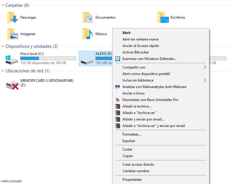 USB Propiedades ReadyBoost