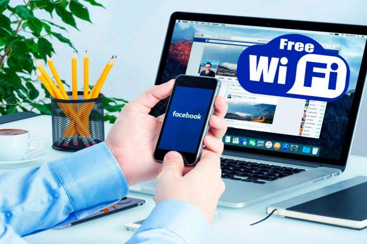 Facebook para Buscar WiFi Gratis