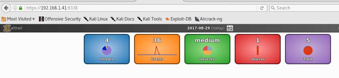 Conexión HTTPS en Maltrail