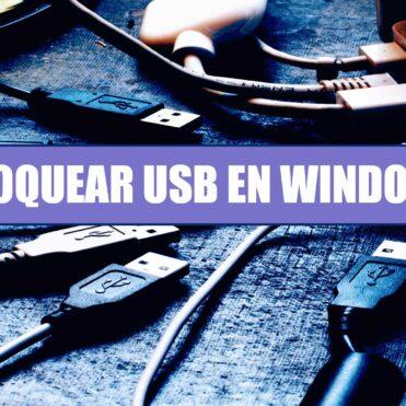Bloquear medios USB en Windows 10