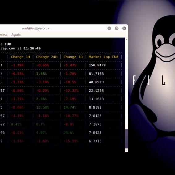 Coinmon Consulte el valor de Criptomonedas en Terminal Linux