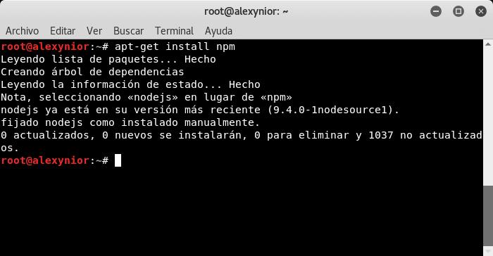 Instalación de npm