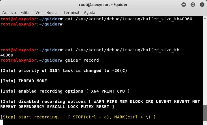 Analizar uso de CPU Guider