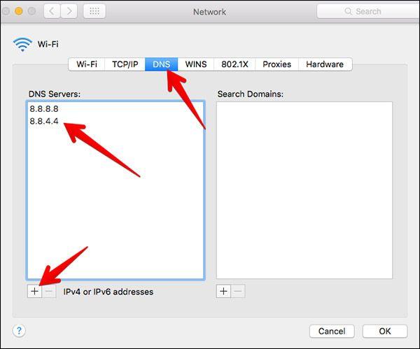 Cambiar DNS en macOS