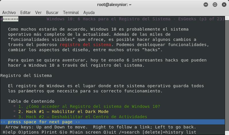 Navegación con ddgr en Linux