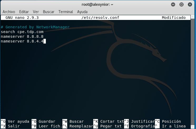 Editar resolv.conf Linux