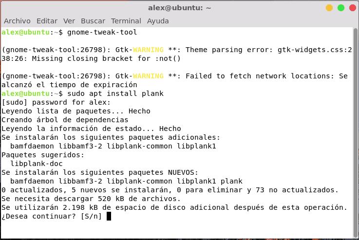 Instalación de Plank en Ubuntu Linux