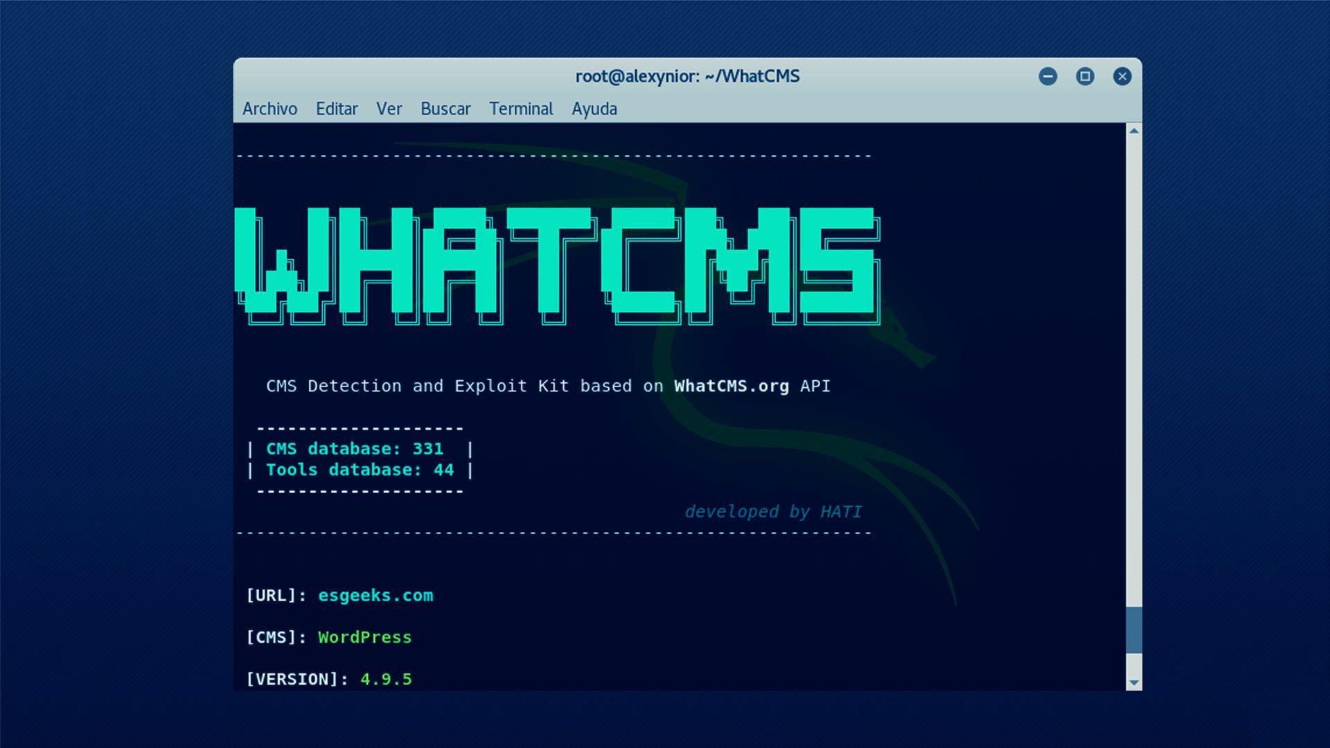 Detección de CMS y Kits de explotación con WhatCMS