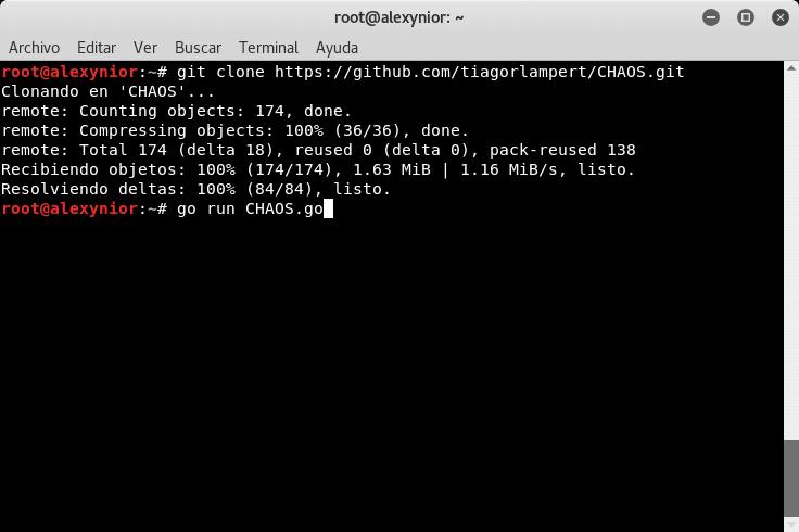 Instalar Framework CHAOS