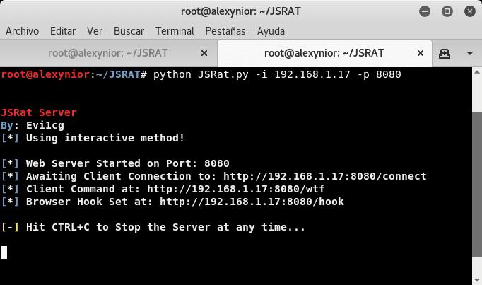 Ejecutar JSRAT.py Linux