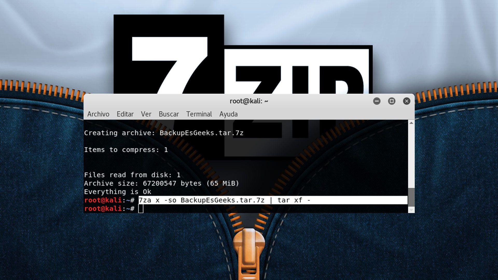 ▷ 10 Ejemplos de comandos 7zip en Linux ✅ | EsGeeks