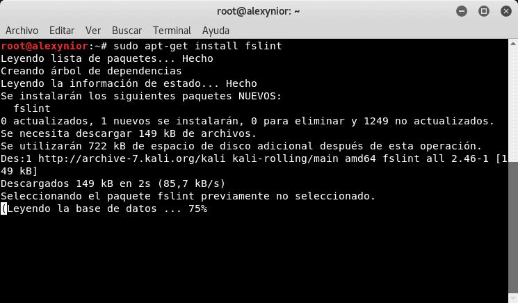 Instalación de FSlint en Linux