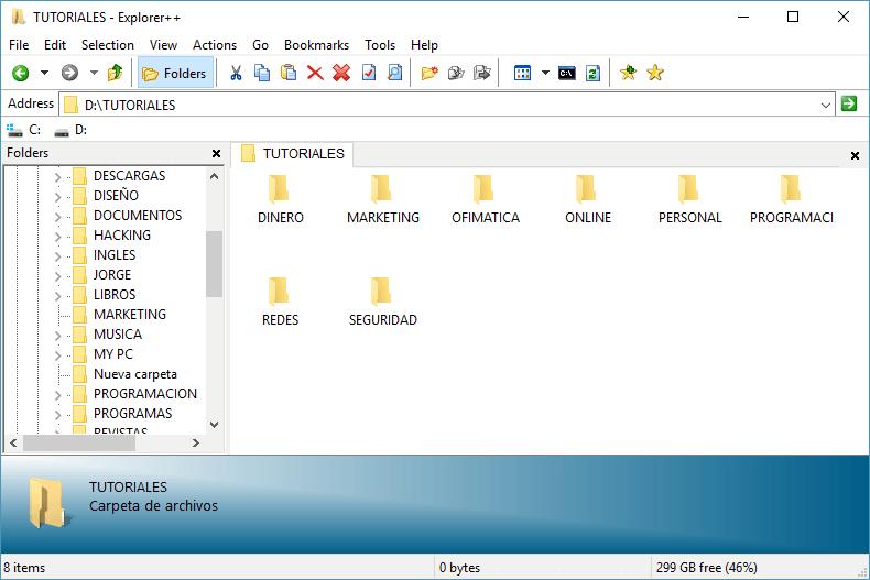 Explorador de archivos Explorer++