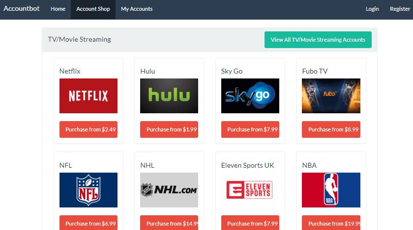 Comprar cuentas netflix con Accountbot