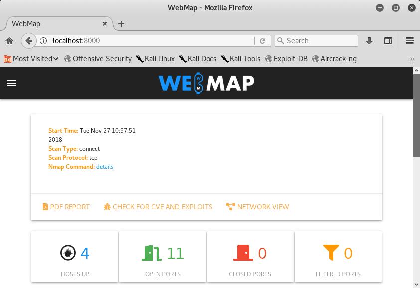 Reporte detallado de Nmap