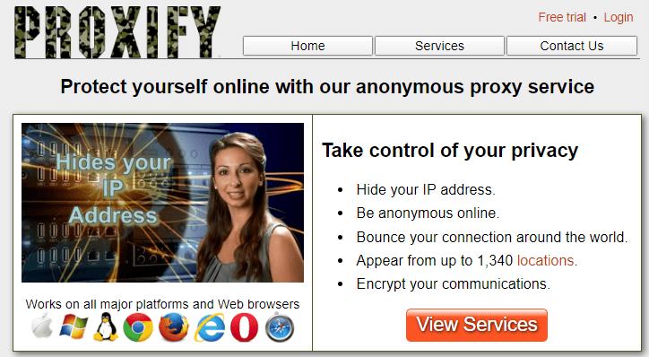 Servicio proxy con Proxify