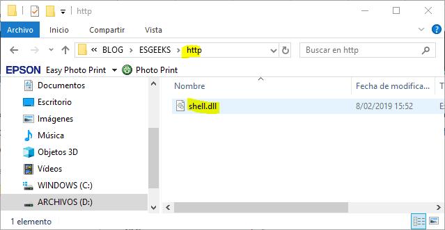 Inyección dll en Windows