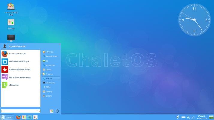 ChaletOS alternativa a Windows
