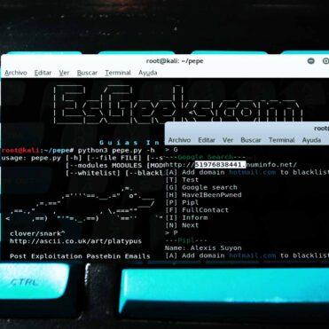 Pepe.py Recopilar información emails contraseña Pastebin