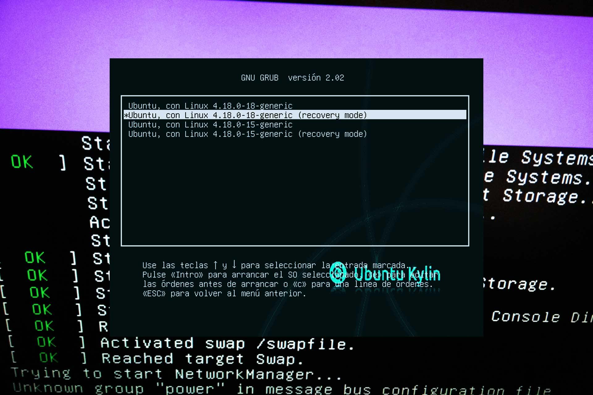 Cómo usar el Modo Recovery en Ubuntu