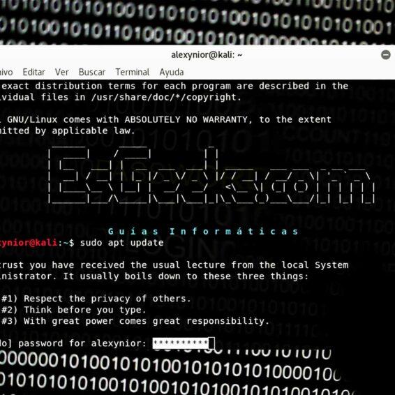 Mostrar asteriscos al escribir contraseña en Linux