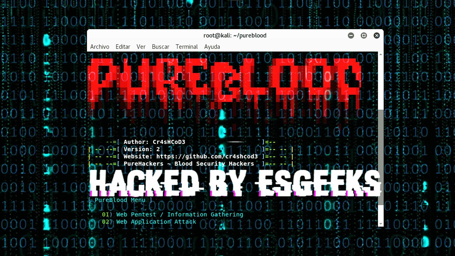 Pure Blood Framework para Hackers, Pentester y Bug Hunter