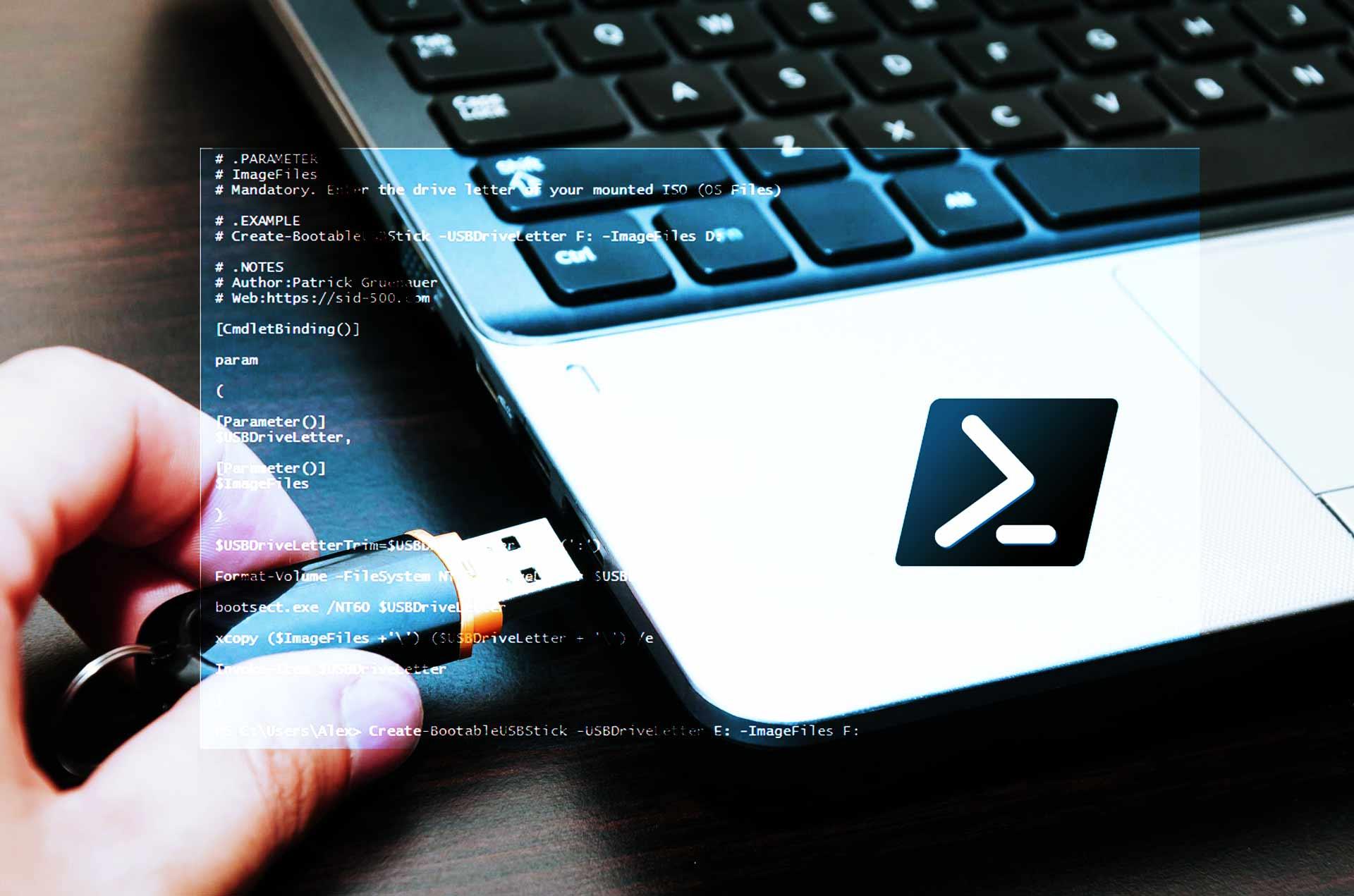 Crear USB Booteable arranque con PowerShell