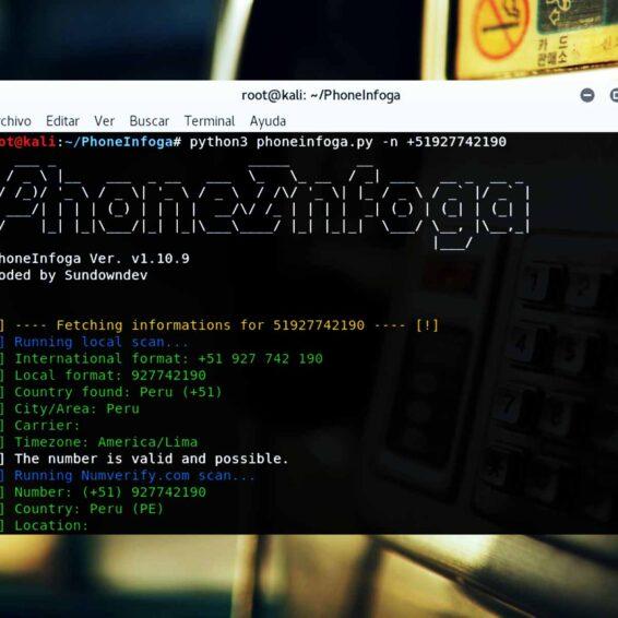 PhoneInfoga Information gathering para números telefónicos