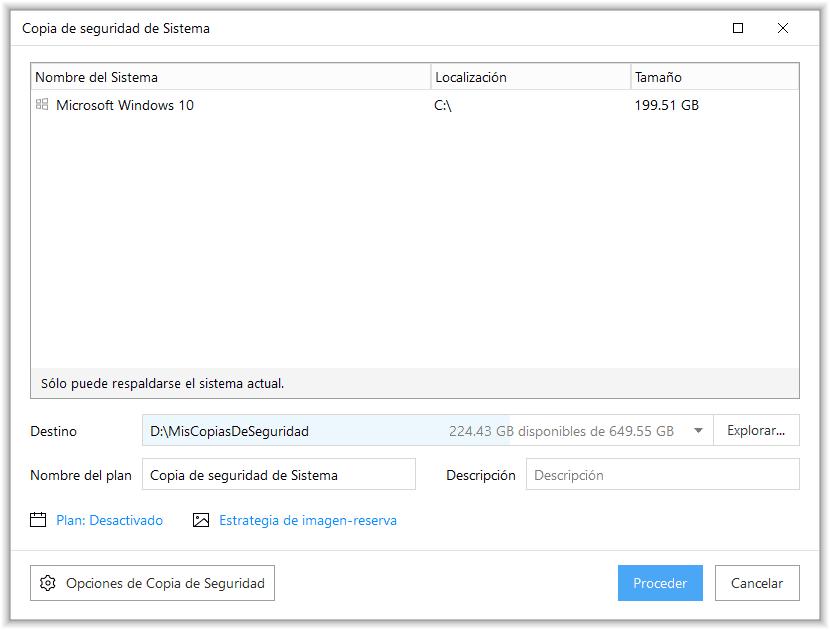 Copia de seguridad del sistema con EaseUS Todo Backup