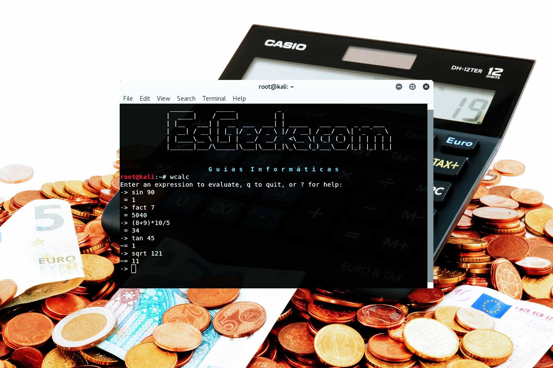 Comandos calculadora en terminal Linux