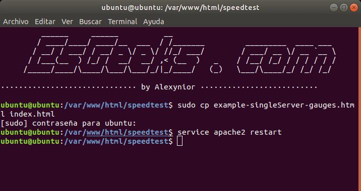 Configurar HTML5 Speedtest
