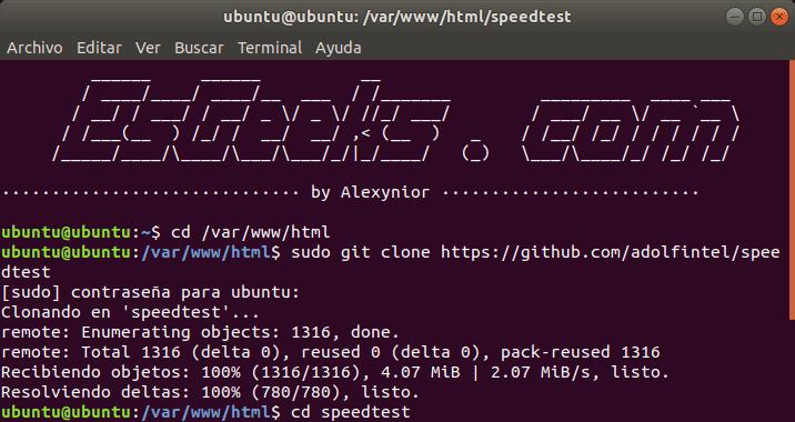 Instalar speedtest en Linux