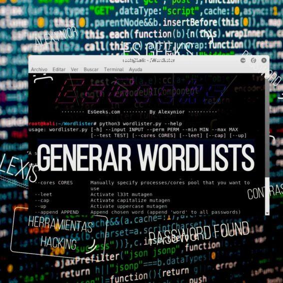 Wordlister generador listas de palabras wordlist