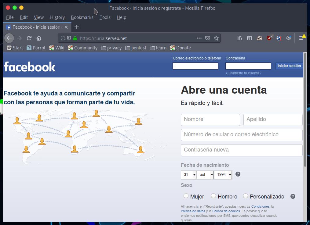Hacking Facebook con Phishing e ingeniería social