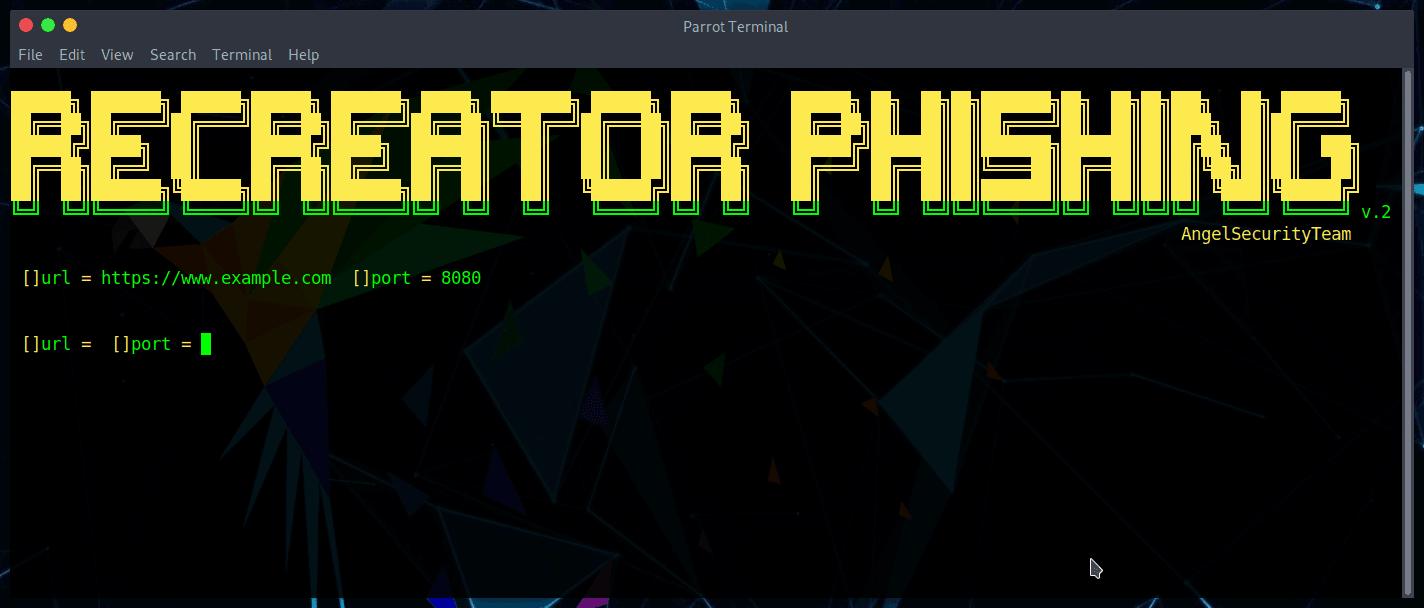 Phishing con Recreator-Phishing