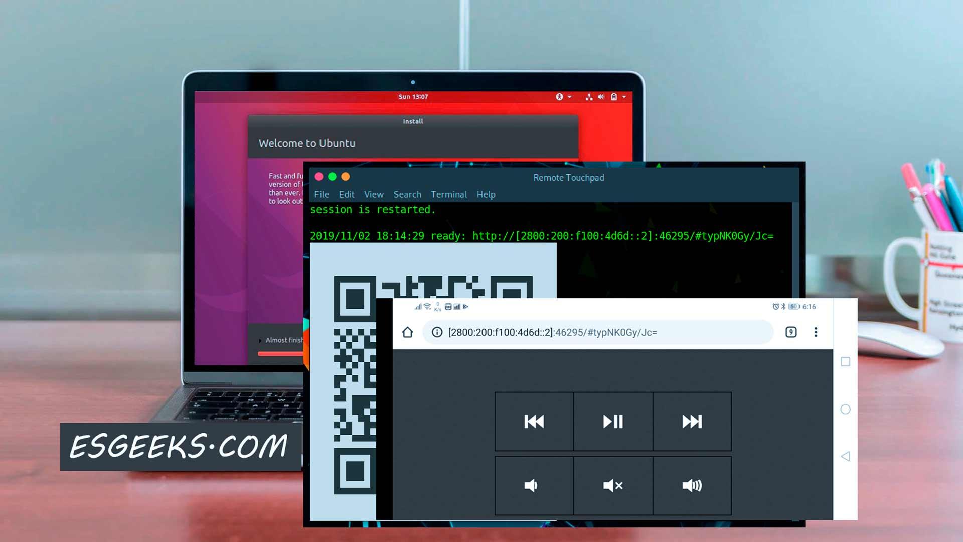 Usar smartphone como mouse o touchpad para Linux