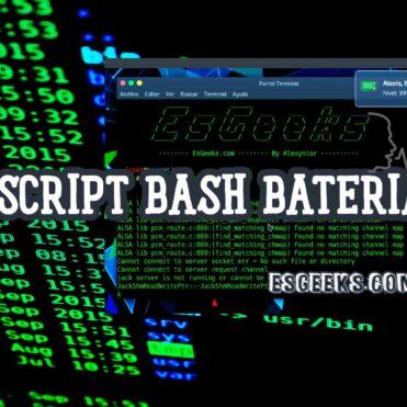 Script Bash alerta batería baja Linux