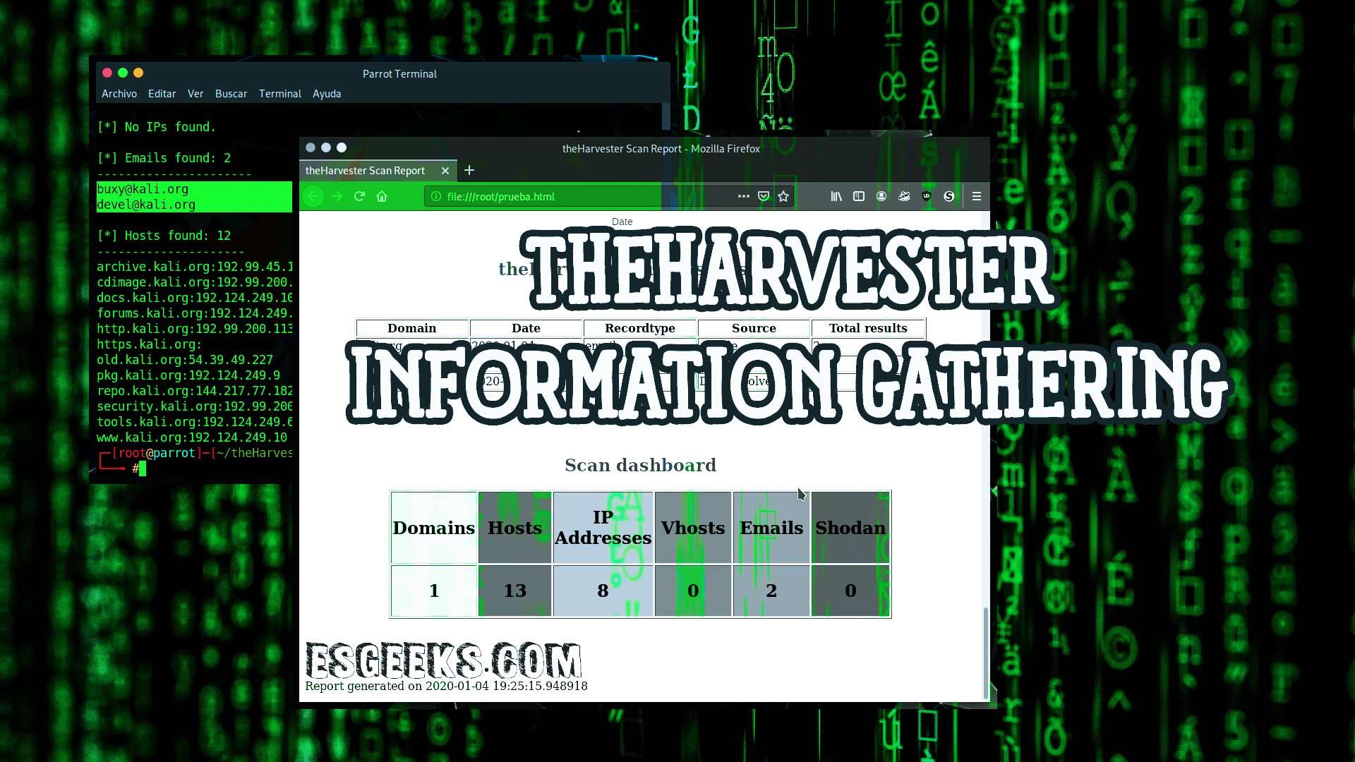 TheHarvester OSINT Para Extraer Información