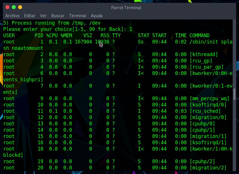 Listar procesos en ejecución en Linux