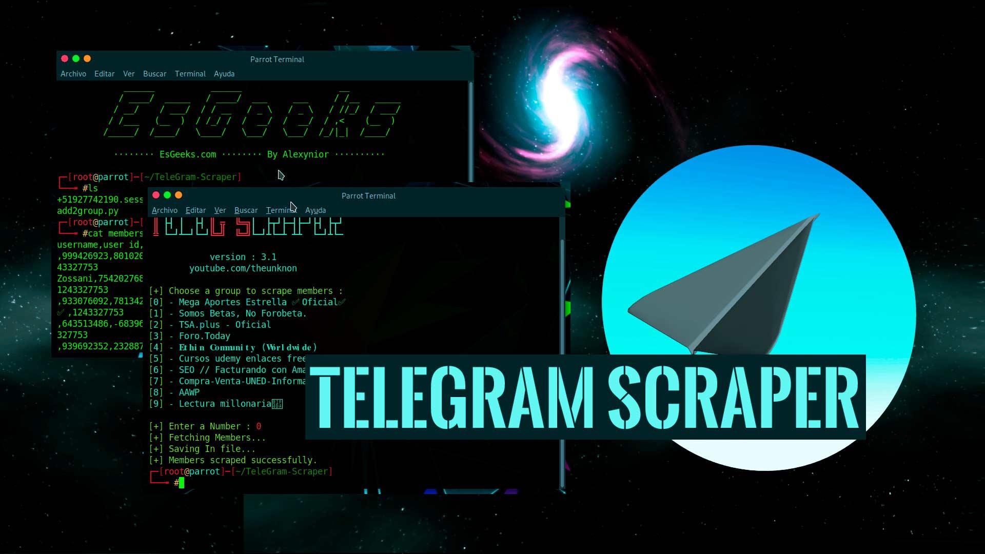 TeleGram Scraper Scraping Grupos Usuarios