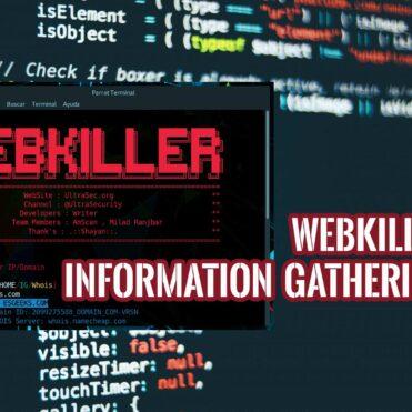 Webkiller Herramienta Information Gathering