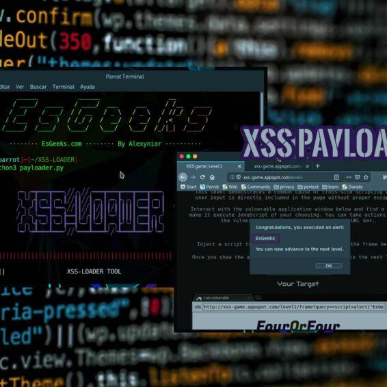 XSS-LOADER Ataques XSS Payload Scanner Dork Finder