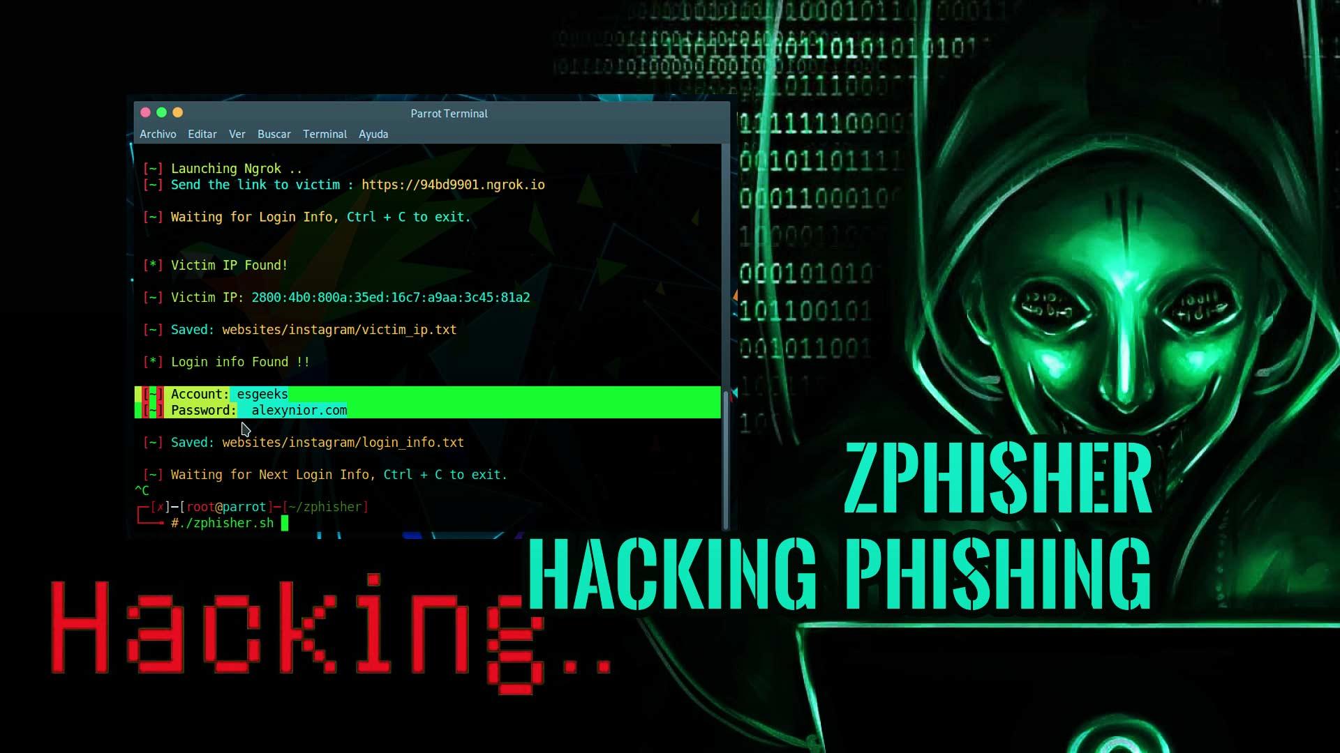 Zphisher: Herramienta de phishing automatizada
