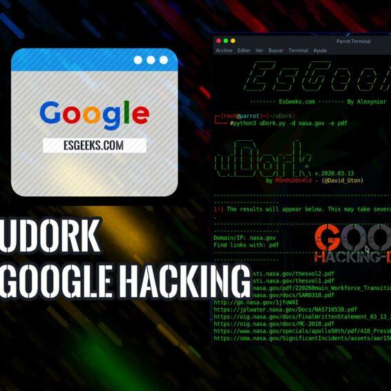 uDork Herramienta Google Hacking